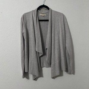 LOFT Grey Loose Knit Sweater Cardigan